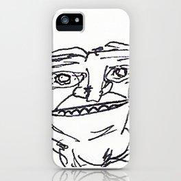 Mr Weirdface iPhone Case