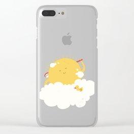 sun-bathing Clear iPhone Case