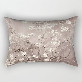 Van Gogh Almond Blossoms Beige Taupe Rectangular Pillow