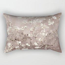 Van Gogh Almond Blossoms Beige Taupe Rectangular Pillow