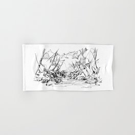 Calm Creek in a Thick Forest Hand & Bath Towel