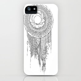 Shifting Moon Tide Dream Catcher Mandala iPhone Case