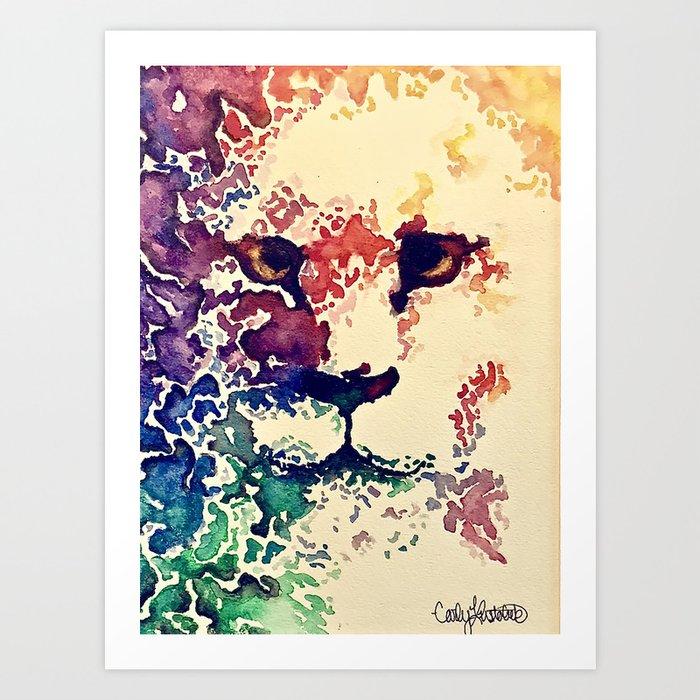Watercolor Lion Kunstdrucke