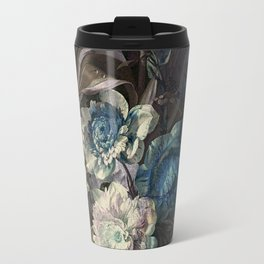 Shabby, classy, pastel blue floral Travel Mug