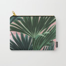 Pink and green palm trees Carry-All Pouch