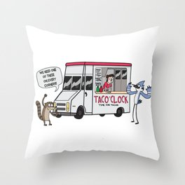 A Taco Truck on EVERY Corner!! Throw Pillow
