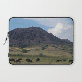 Cattle at Bear Butte Laptop Sleeve