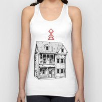 pagan Tank Tops featuring Petite Mort by Tom Kitchen