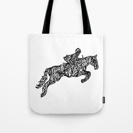 Jumping Horse Ink Artwork Tote Bag