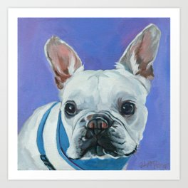 French Bulldog Portrait Painting Art Print