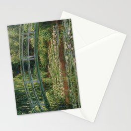 1899-Claude Monet-The Japanese Footbridge and the Water Lily Pool, Giverny-89 x 93 Stationery Cards