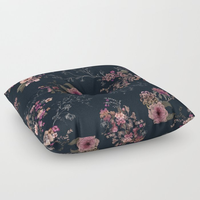 Japanese Boho Floral Floor Pillow By Caseysaccomanno