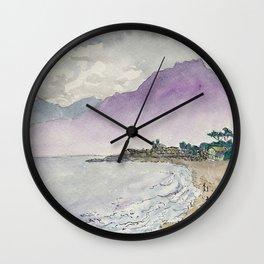 West Coast Beach Carpinteria Wall Clock
