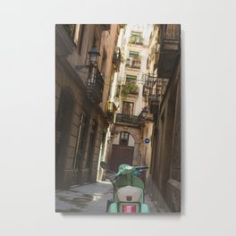 Scooter in Barcelona Metal Print