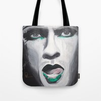 neil gaiman Tote Bags featuring Neil by 4:F by Freddie:4