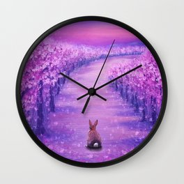 Looking Back On The Journey Wall Clock