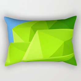 Green Mountain triangle Rectangular Pillow