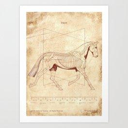 Da Vinci Horse: The Trot Revealed Art Print