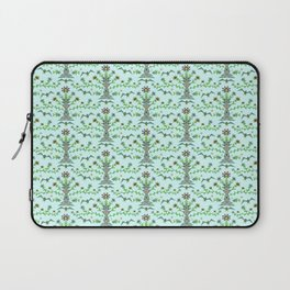 Robot birdies and fishes pattern Laptop Sleeve