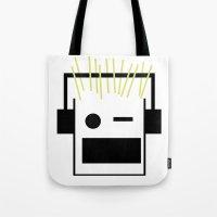blondie Tote Bags featuring Blondie by GPM Arts