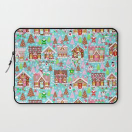 Christmas Village made of Gingerbread Laptop Sleeve