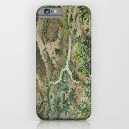Boise foothills painting iPhone Case