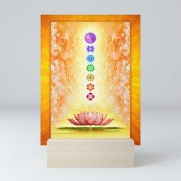 Sacred Lotus - The Seven Chakras .I Mini Art Print