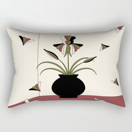 Windswept Irises - Crimson Rectangular Pillow