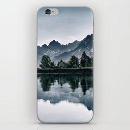 Switzerland lake b&w iPhone Skin