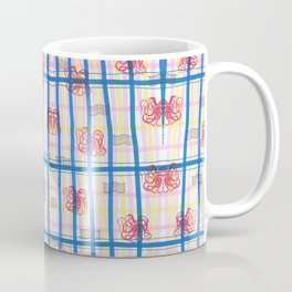 Naval Gingham Coffee Mug