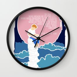 For Book Lover Girls Wall Clock