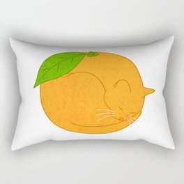Orange Cat Rectangular Pillow