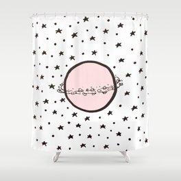 Pink Saturn Shower Curtain