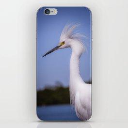 Snowy Egret Portrait iPhone Skin