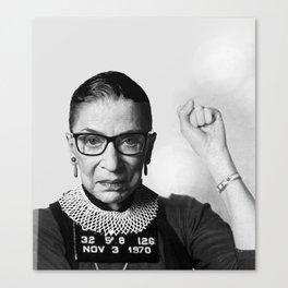 RBG Ruth Bader Ginsburg Drawing Jane Fonda Mug Shot Mugshot Canvas Print