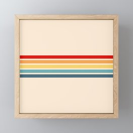 Takaakira - Classic Rainbow Retro Stripes Framed Mini Art Print