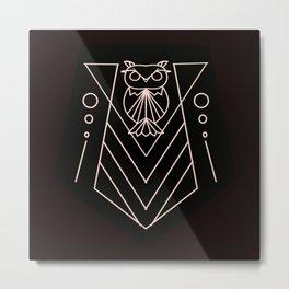 Geometric Athenian Owl Metal Print