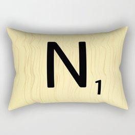 Scrabble N Art, Large Scrabble Tile Initials Rectangular Pillow