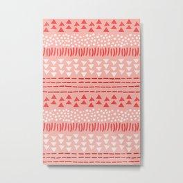 Peppermint Pattern Metal Print