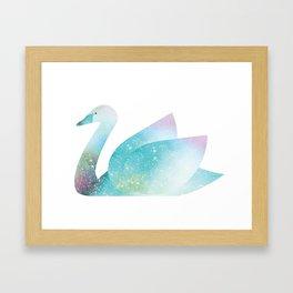 Magical Swan (Flower Petals) Framed Art Print