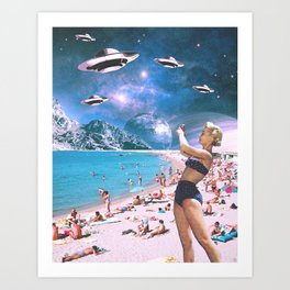 Vacation Invasion Art Print