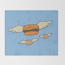 Bob's Burgers Flying Hamburger picture Throw Blanket