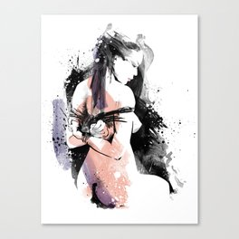 Shibari - Japanese BDSM Art Painting #9 Canvas Print