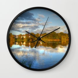 Roath Park Reflections HDR Wall Clock