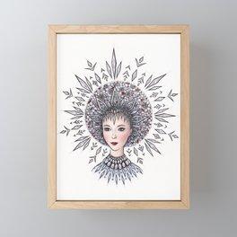 Snow Maiden Framed Mini Art Print