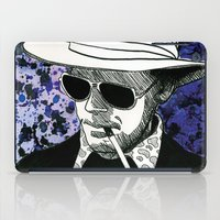 hunter s thompson iPad Cases featuring Hunter S. Thompson, Bat Country by Abominable Ink by Fazooli