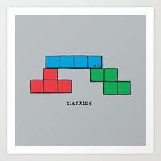 Planking Art Print