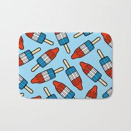 Rocket Popsicle Pattern Bath Mat