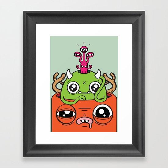 Monster Mind Framed Art Print
