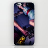 alcohol iPhone & iPod Skins featuring The fear of alcohol by lightmuch